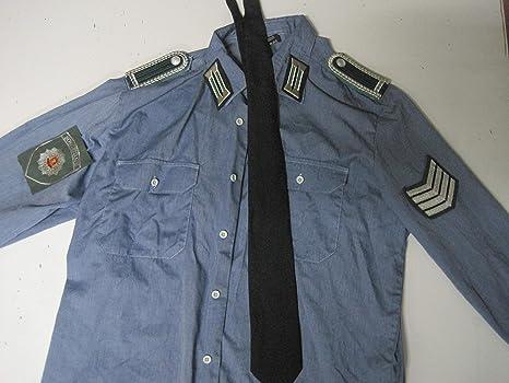 Camisa de policía pública POLICÍA cuello ancho 41.DDR la nostalgia de la RDA de carnaval fiesta temática: Amazon.es: Deportes y aire libre