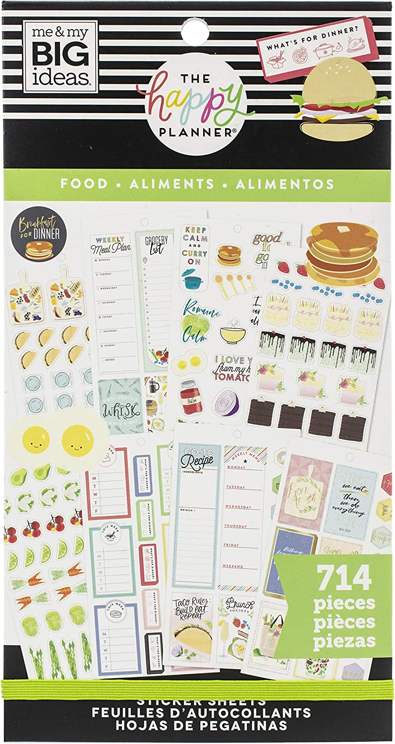 ME MY BIG IDEAS Happy 714 Yum Planner Some reservation Gorgeous STCKRS Pkg