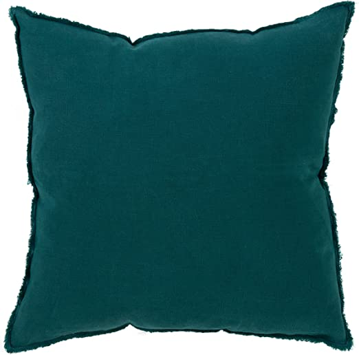 """2 X FILLED MODERN THICK SOFT CHENILLE SPOT DOT TEAL BLUE CUSHIONS 22/"""""""