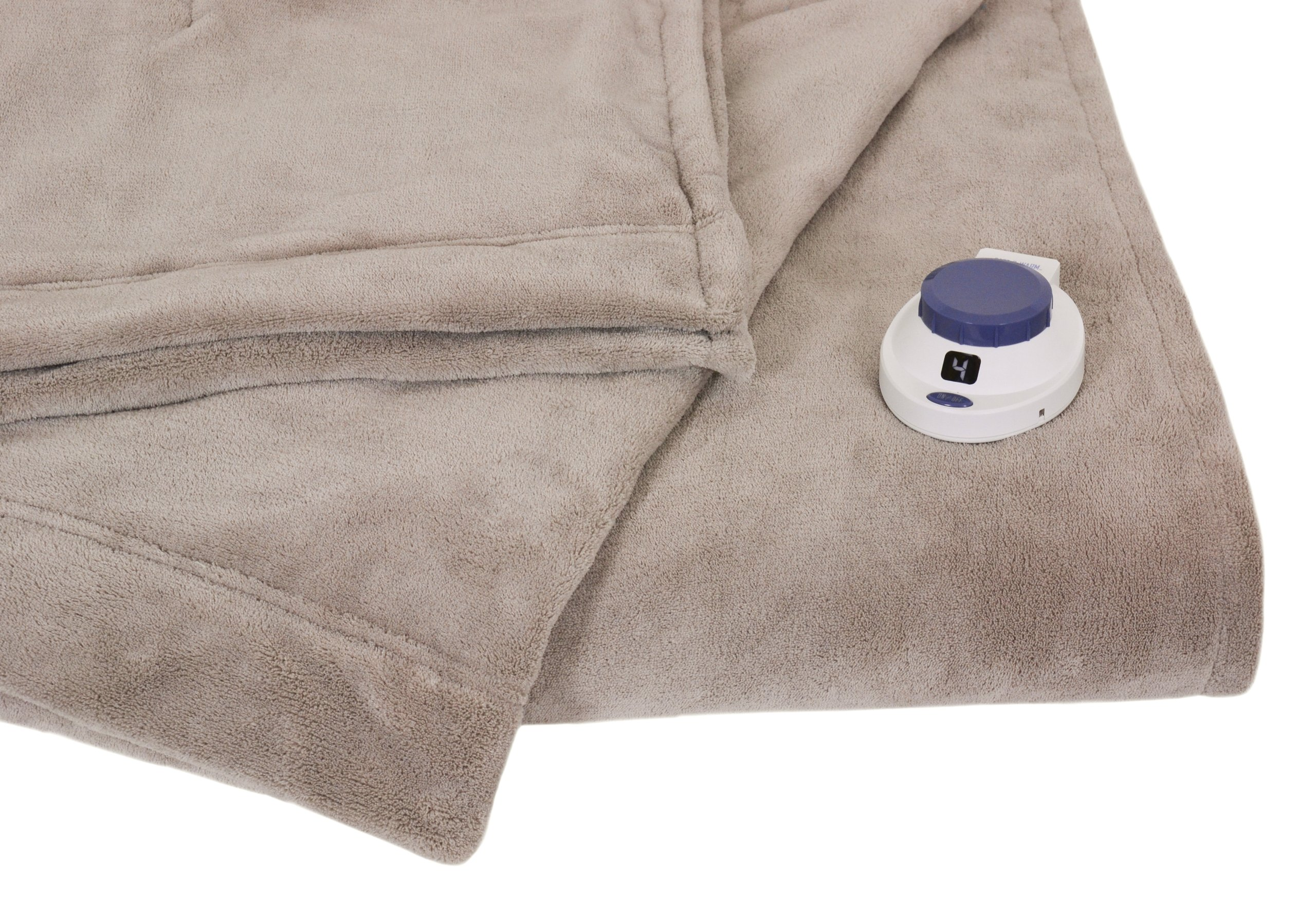 Serta Luxe Plush Low-Voltage Electric Heated Micro-Fleece Blanket, Full, Topaz by Serta