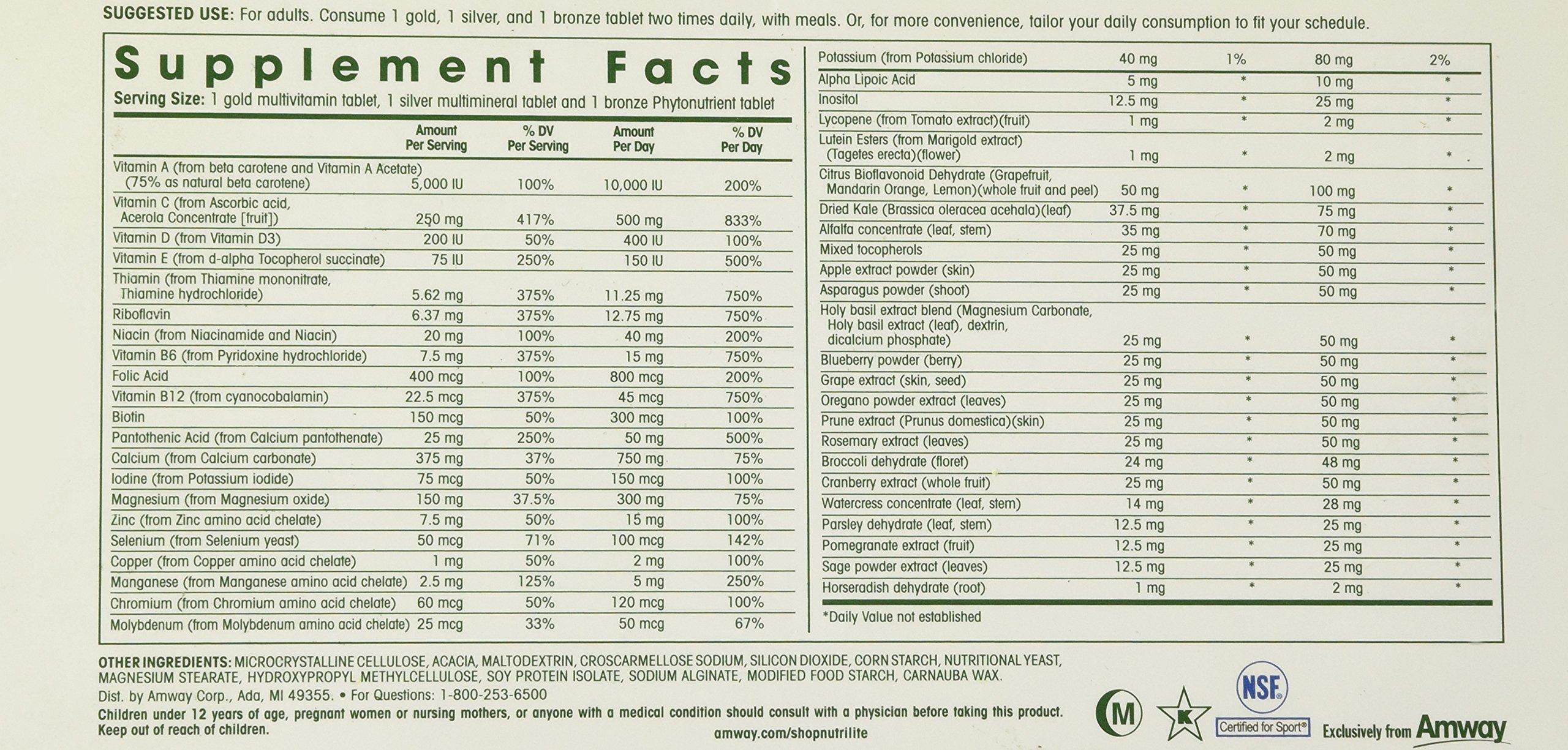 NUTRILITE® DOUBLE X® Vitamin/Mineral/Phytonutrient - 31-day Supply Refill