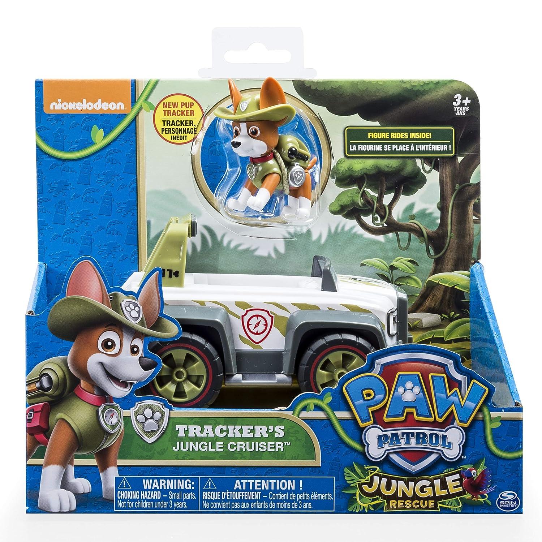 Paw Patrol, Jungle Rescue, Tracker?s Jungle Cruiser, Vehicle & Figure