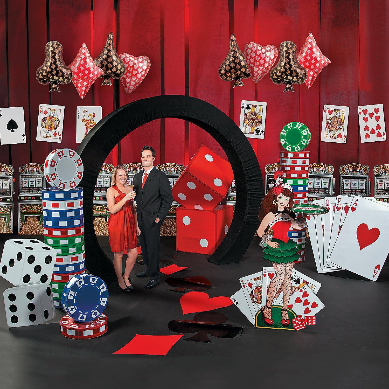 Complete casino night kit gambling machine poker