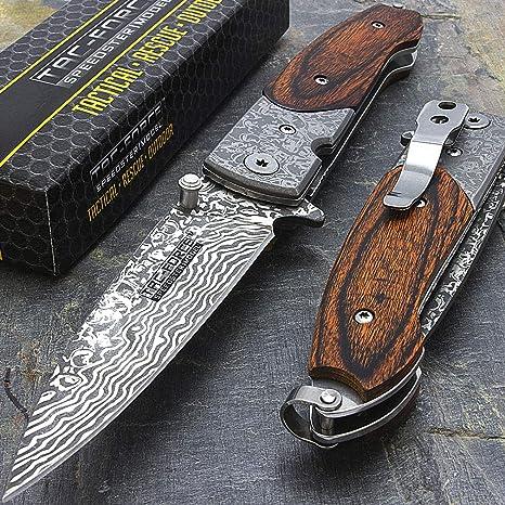 Amazon.com: Billion_Store Cuchillo de bolsillo de madera de ...