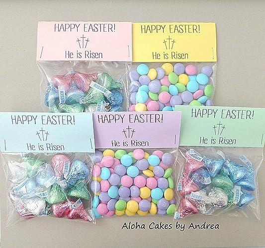 Amazon Com He Is Risen Happy Easter Bag Topper Easter Basket