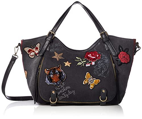 727be7bb5a Desigual Always Redterdam Shoulder Bag Negro  Amazon.co.uk  Shoes   Bags