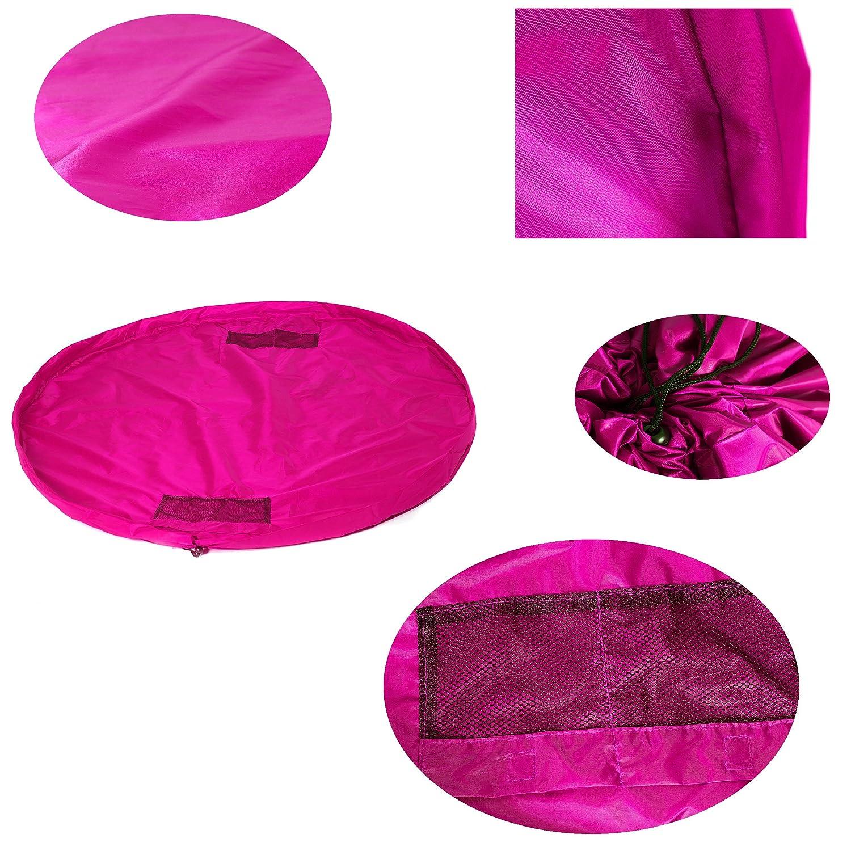 Sac de Rangement TUKA XXL Portable Sac /à Jouet de Jouet pour Les b/éb/é Enfants Tapis pour Les Enfant Pink /étanche Jeu Blanchet TKD4005 Pink