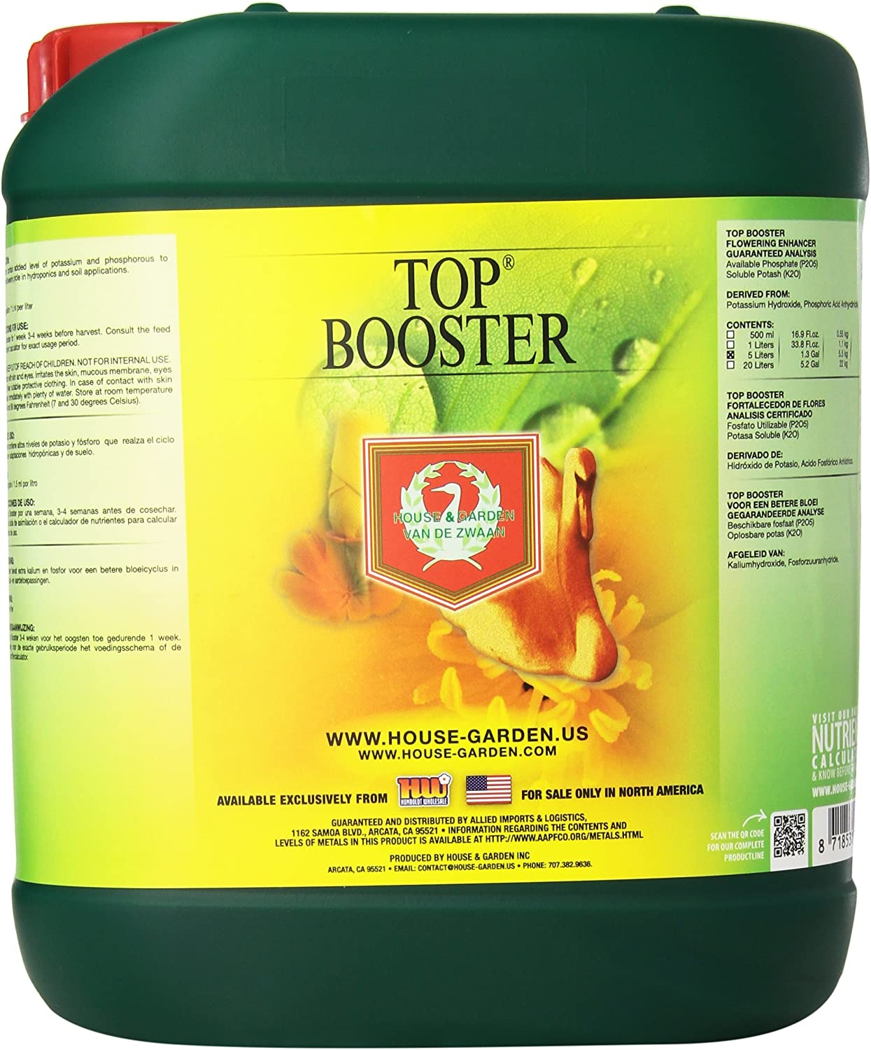 House & Garden GL56749705 HGTBS05L Top Booster, 5 L fertilizers, Natural