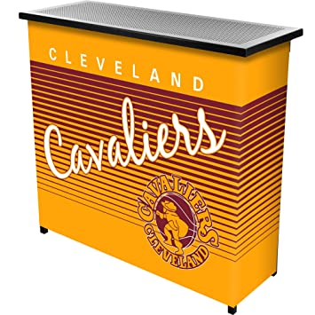 NBA Cleveland Cavaliers Portable Bar with Case, One Size, Black