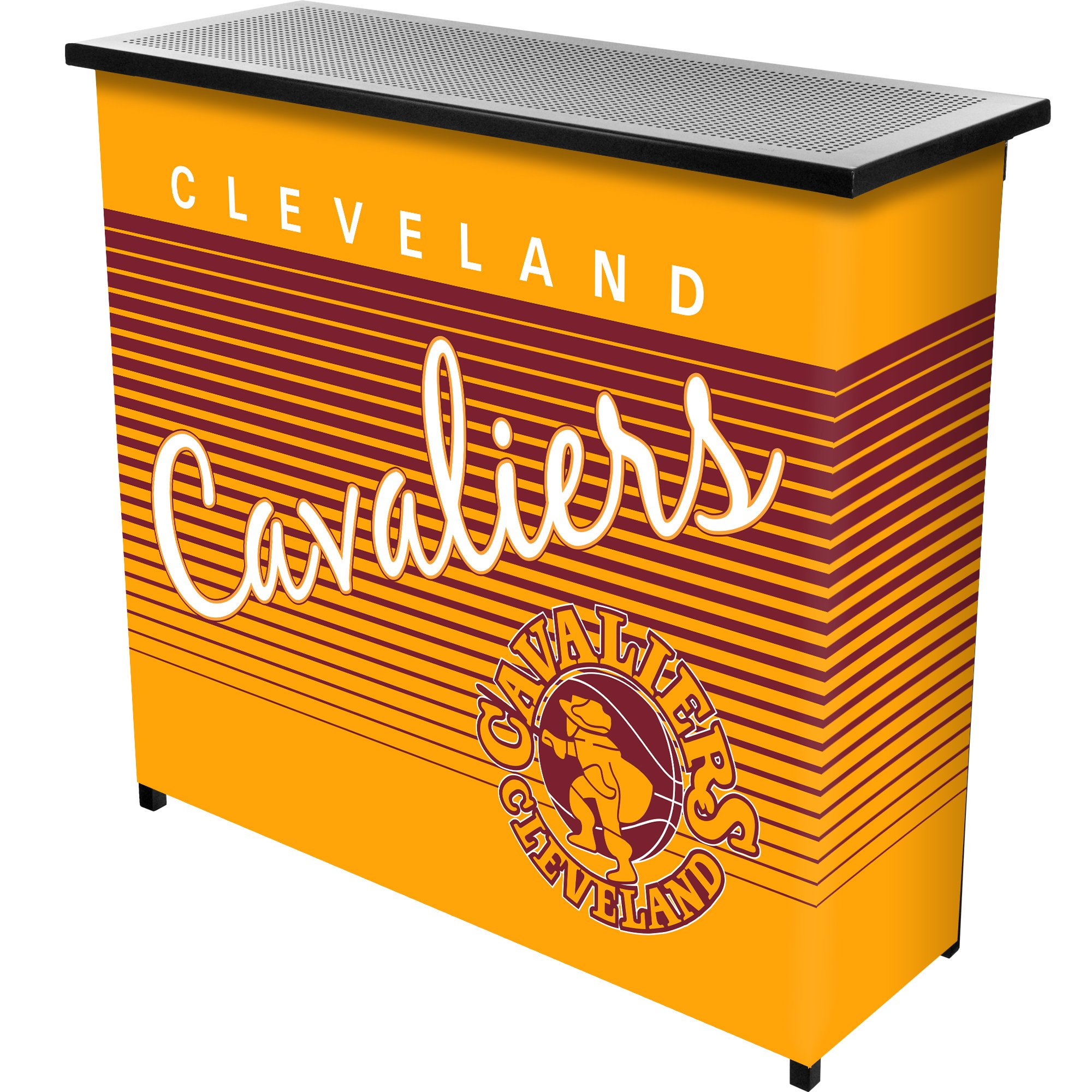 NBA Cleveland Cavaliers Portable Bar with Case, One Size, Black by Trademark Global