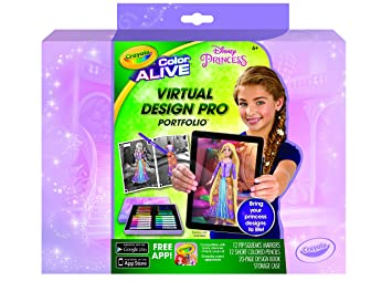 Amazon.com: Crayola Color Alive Disney Princess Virtual Design Pro ...