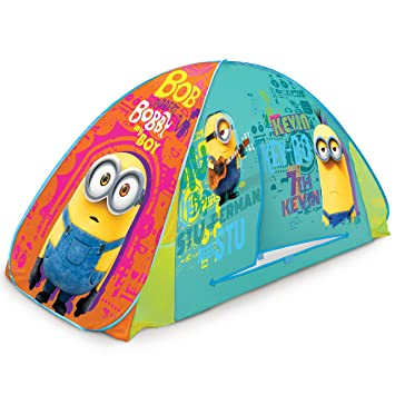 Play Hut Minions 2-in-1 Tent Yellow 72u0026quot; x 35u0026quot  sc 1 st  Amazon.com & Amazon.com: Play Hut Minions 2-in-1 Tent Yellow 72