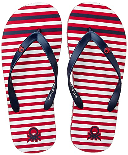 United Colors of Benetton Men's Red Flip-Flops and House Slippers - 10 UK/