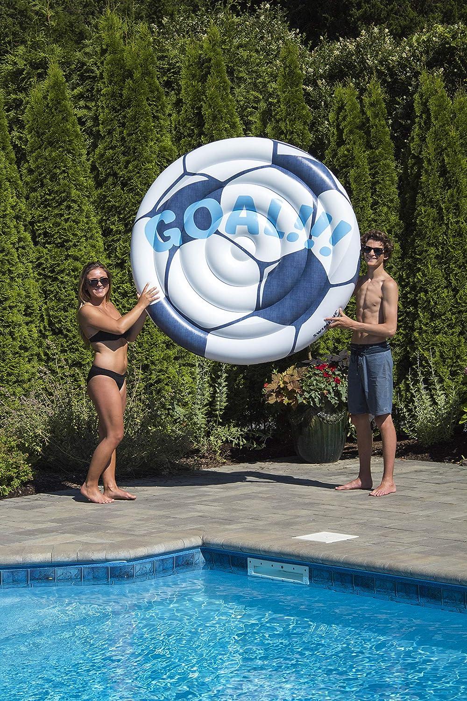 Swimline Soccerball Island Pool Inflatable Ride-On White 90531