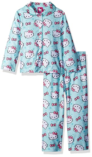 ff1bd36a4 Amazon.com  Hello Kitty Girls  Toddler 2-Piece Pajama Coat Set ...