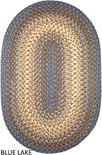 product image for Rhody Rug Ellsworth Indoor/Outdoor Reversible Braided Rug by (8' x 11') Blue/Beige