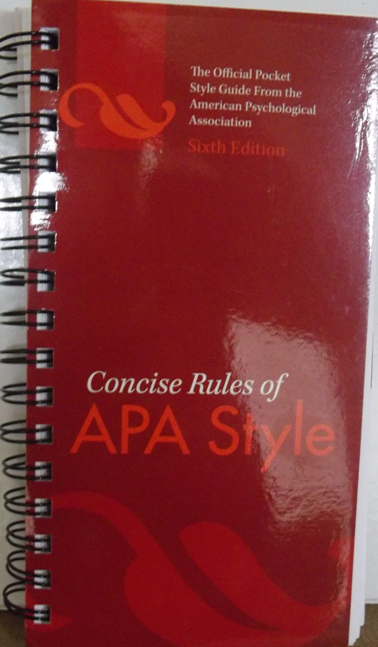 Read Online Concise Rules of APA Style [[6th (sixth) Edition]] Spiral binding pdf