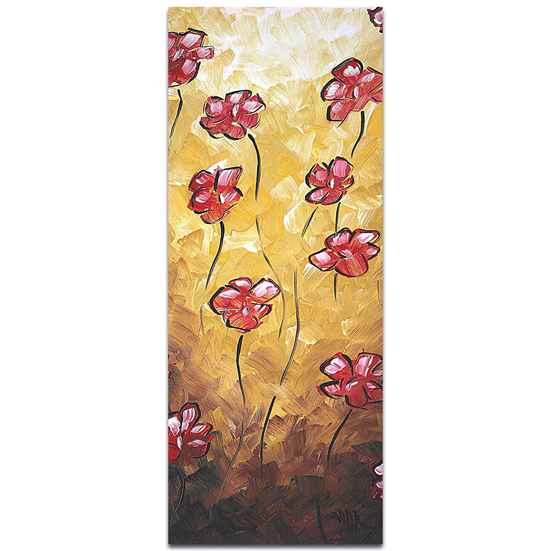 Amazon.com: Metal Art Studio Impasto Flower Painting \'Floating ...
