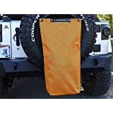 """ALIEN SUNSHADE Jeep Wrangler Mesh RubiSack Exterior Storage Bag for Trash or Trail Gear with 10 Year Warranty – Includes 48"""" Carabiner Bungee (Krush Orange)"""