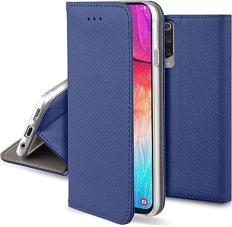 Moozy Hülle Flip Case Für Samsung A50 Dunkelblau Elektronik