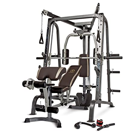 Marcy Smith Cage Workout Machine Total Body Training Home Gym System With Linear Bearing MD