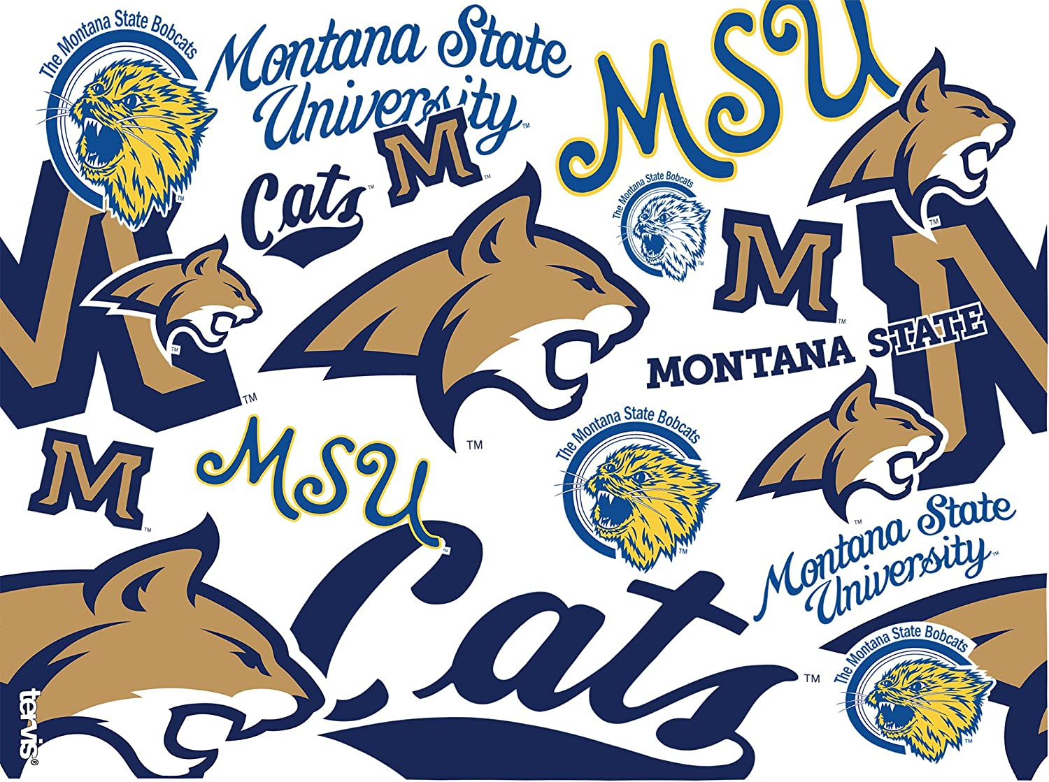 Tervis 1229576 Montana State Bobcats College Pride Tumbler with Wrap and Navy Lid 16oz Clear