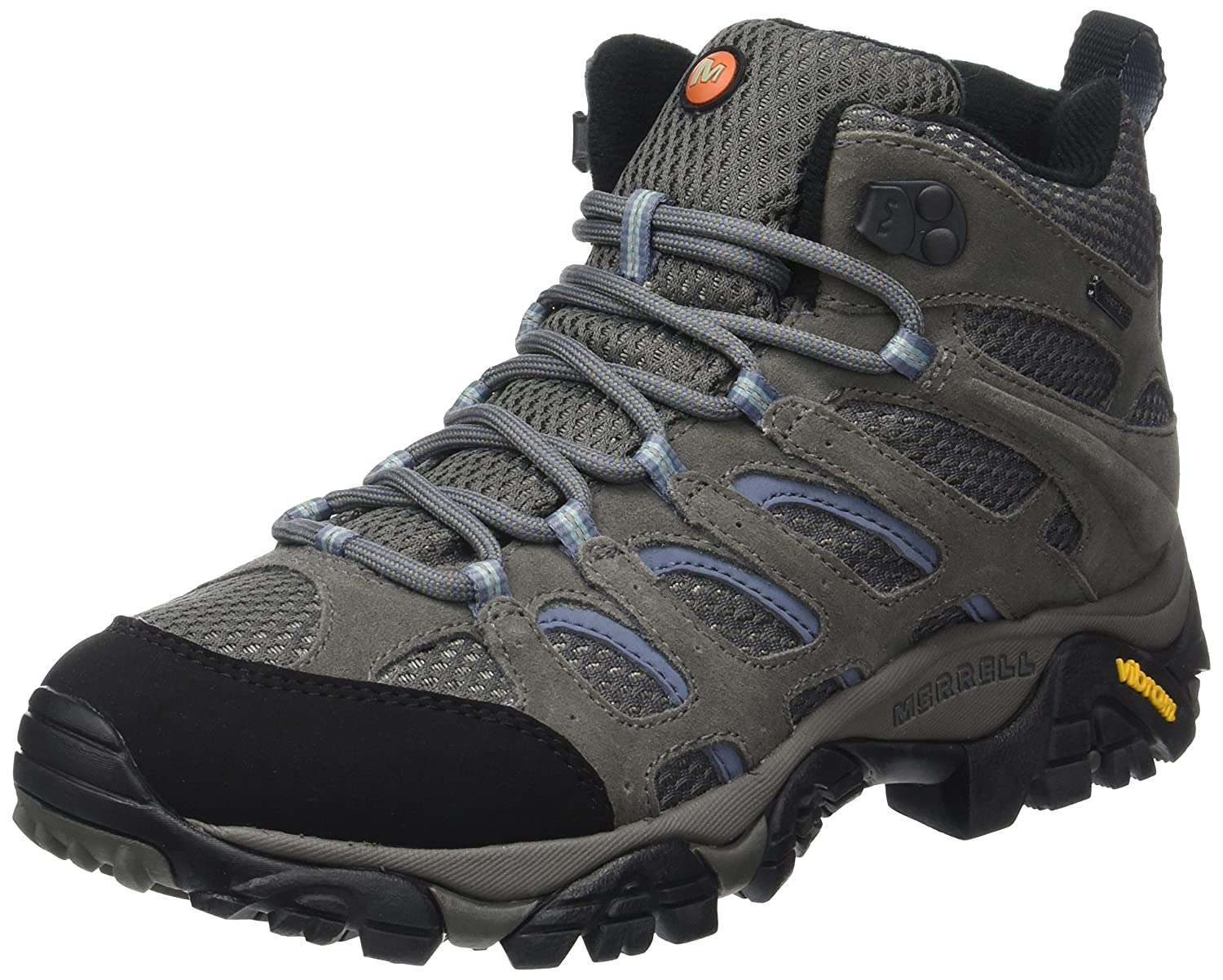 Merrell Women's Moab Mid Waterproof Gore-Tex Hiking Boot B000RJ2BN8 38.5|Grey