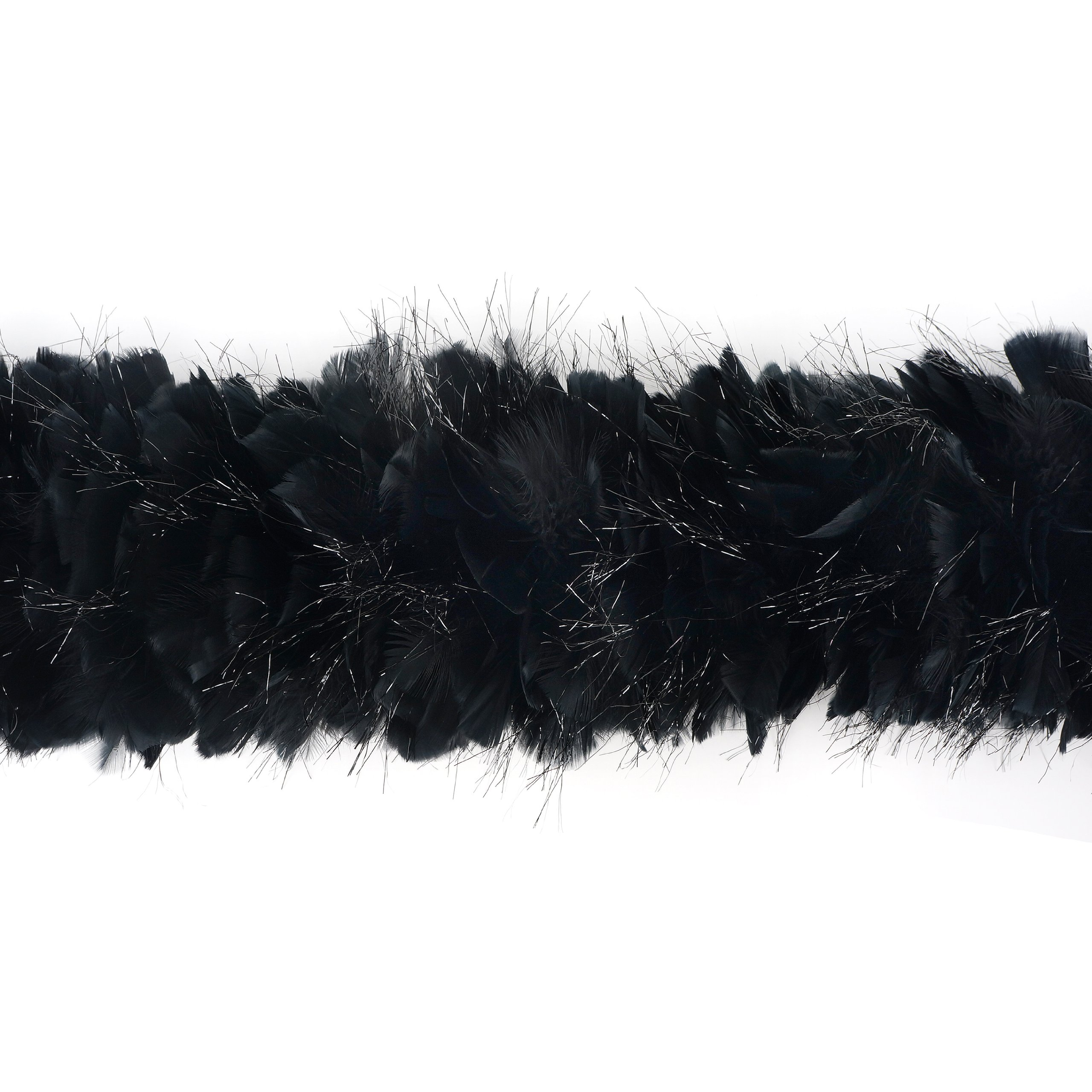 Zucker Feather Products Turkey Boa with Lurex, Black by Zucker Feather Products (Image #3)