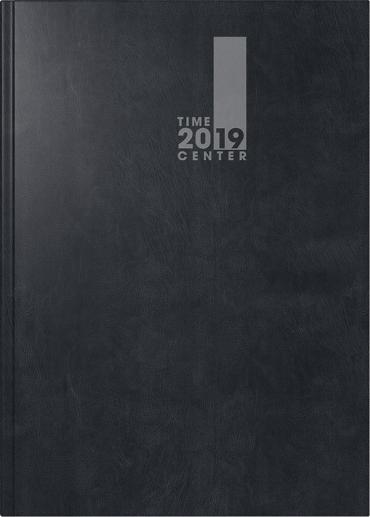 Brunnen 10729 2019 Buchkalender TimeCenter 2 Seiten = 1 Woche 148 X 210 Mm Baladek Einband Schwarz Kalendarium 2019 Kalender Und Notizbuch In Einem