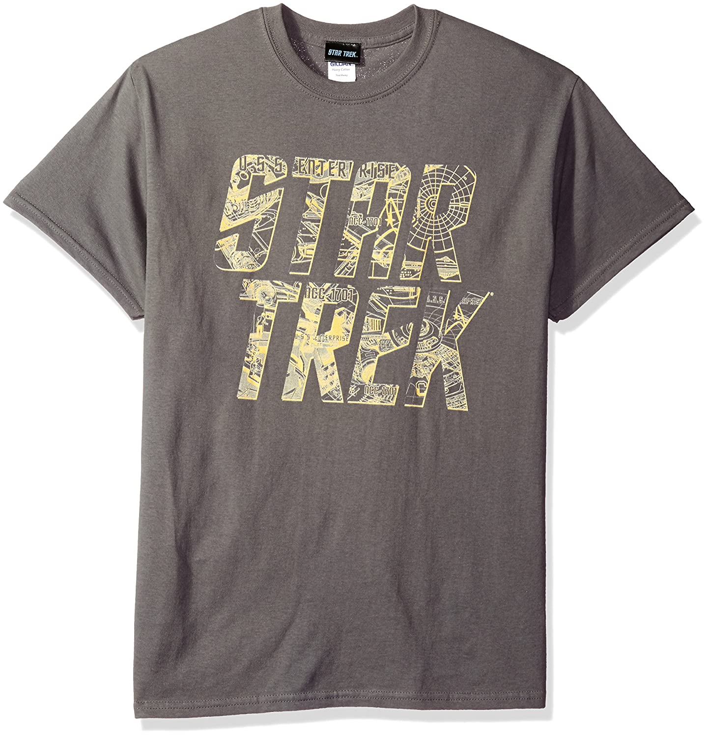 Star Trek - - Logo T-Shirt Esquema Hombres En Charcoal: Amazon.es ...
