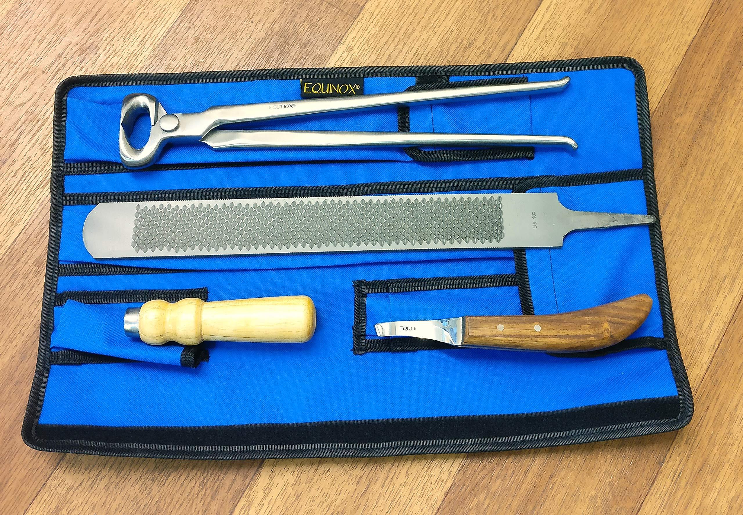 SiS EQUINOX Farrier Tool Kit Hoof Rasp, Hoof Nipper & Knife in a Storage Wallet by SiS EQUINOX (Image #3)