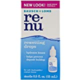 Renu Soft Eye Contact Lens Rewetting Drops 0.5 Fluid Ounces