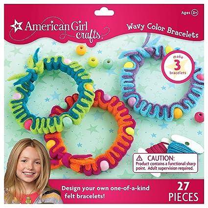 5502d43c3 Amazon.com: American Girl Crafts Wavy Color Bracelets Kit: Arts, Crafts &  Sewing