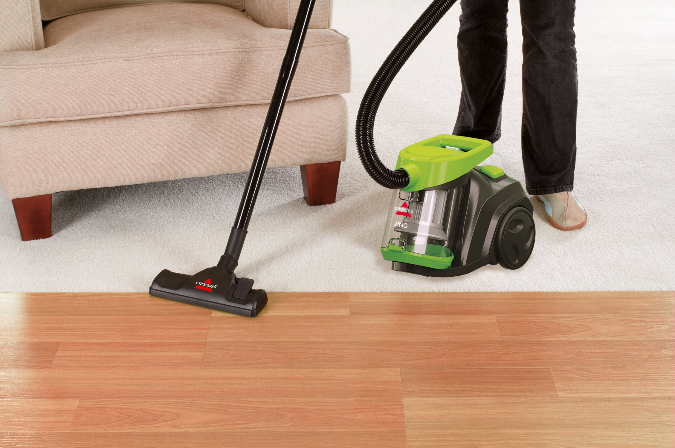 Galleon Bissell Zing Bagless Canister Vacuum 1665 Corded