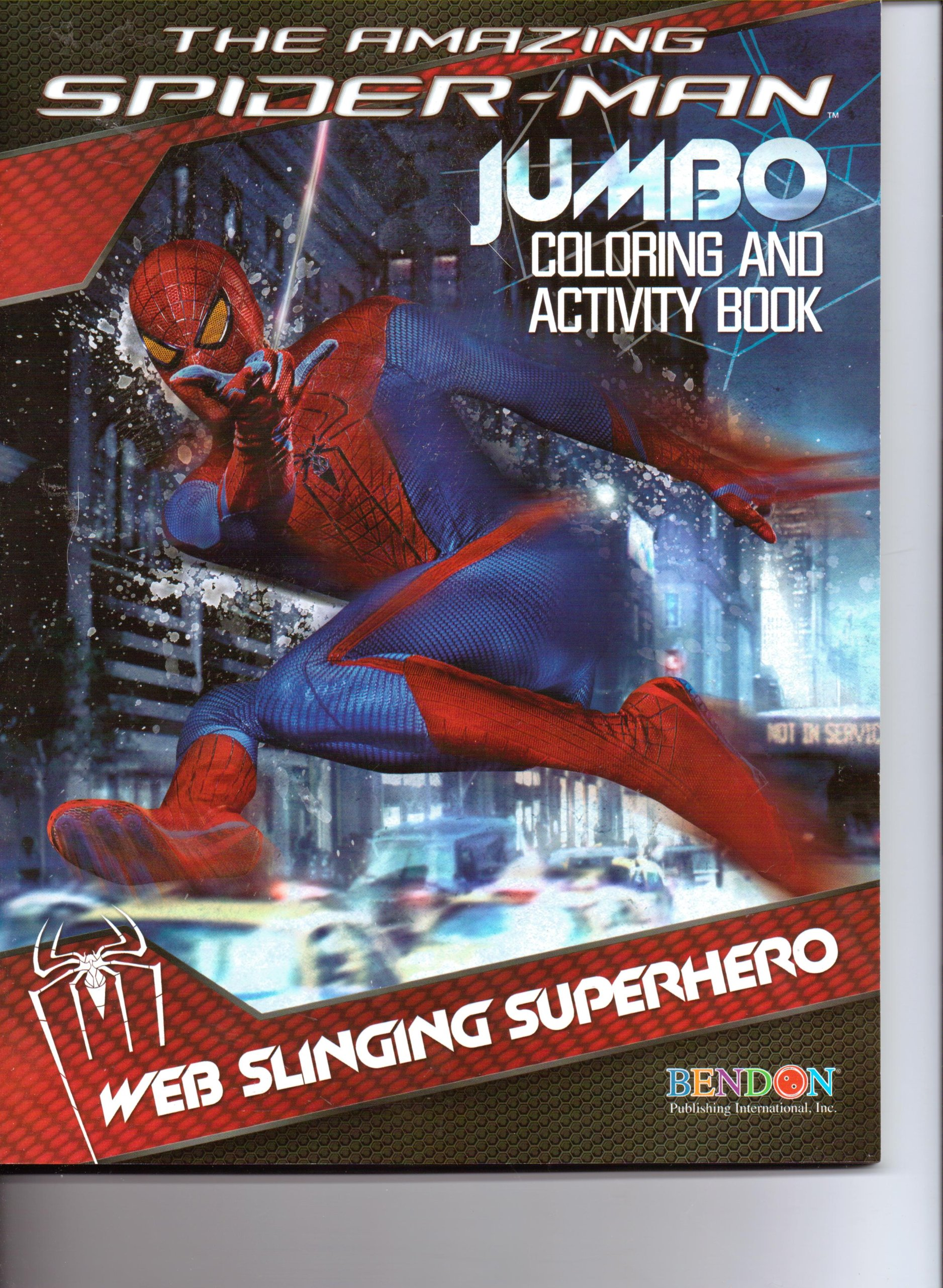 The Amazing Spider-Man Jumbo Coloring & Activity Book ~ Web