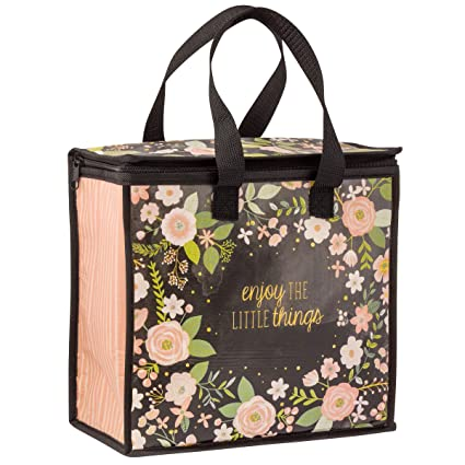 d7141d322a76 Karma Gifts Cooler Bag, Charcoal Flower