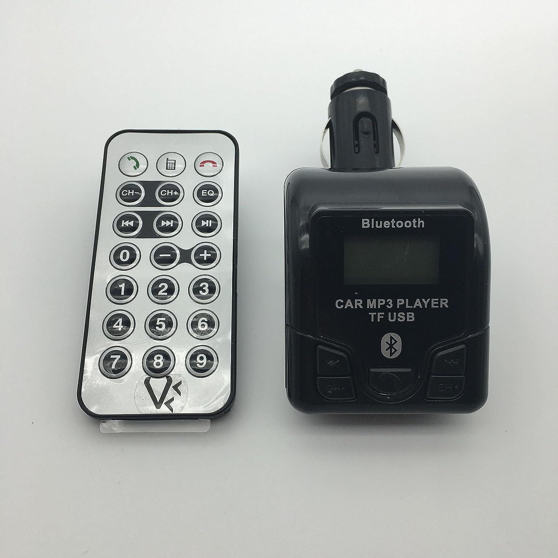 lire carte MicroSD et Cle? USB de Musique Transmetteur Bluetooth FM Kit mains libres pour connecter te?le?phone Smartphone a? lAutoradio de la voiture Prise USB Chargeur Prise Jack 3,5 pour connection MP3 ou autres appareils sans BT Blanc