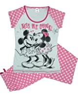 Minnie Mouse Kiss Me Quick Womens cotton pyjamas sizes 8 - 22.