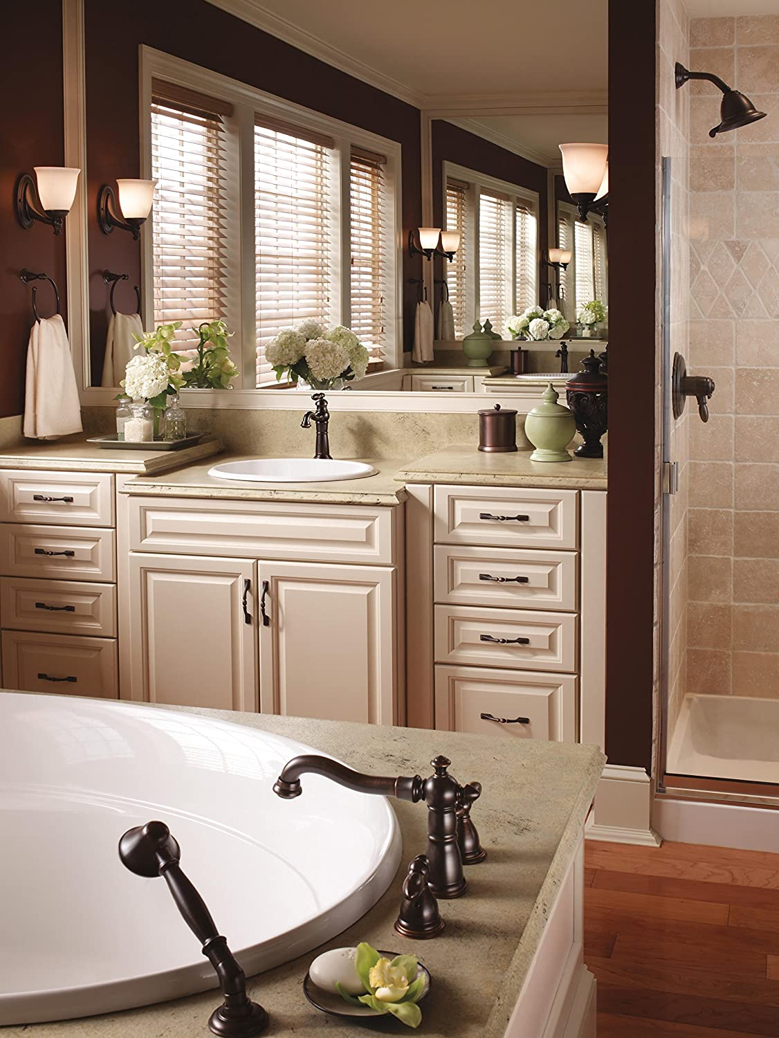 DELTA FAUCETS T4755-RBLHP Roman Tub With Hand Shower Trim - Tub ...