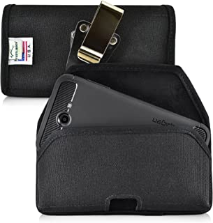 product image for Turtleback Belt Clip Case Compatible with Samsung Galaxy J7 2017 Prime Perx Halo w/Slim Case Black Holster Nylon Pouch with Heavy Duty Rotating Belt Clip Horizontal Made in USA