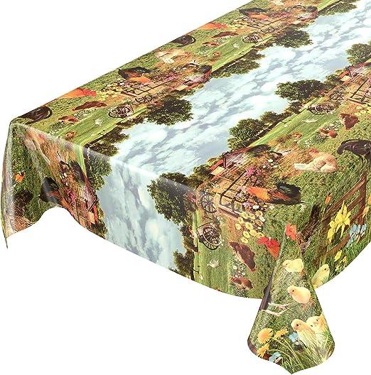 Hule para mesa, lavable, diseño de campo, longitud a elegir ...