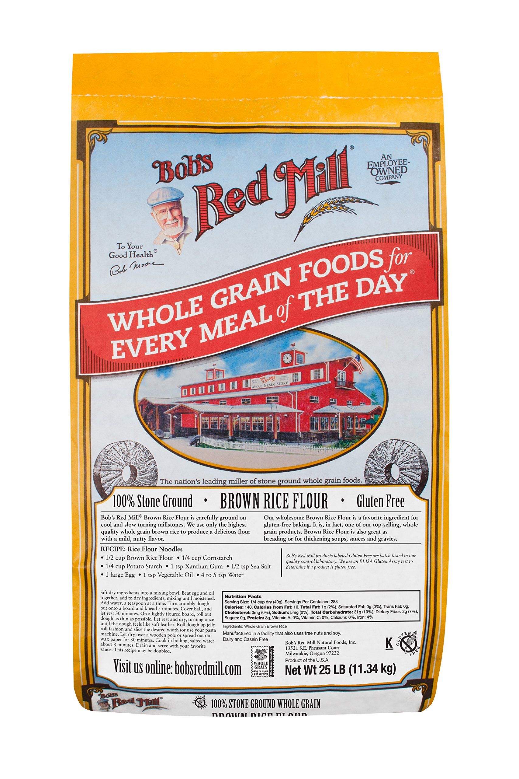 Bob's Red Mill Bulk Rice Flour, Brown, 25 Pound by Bob's Red Mill