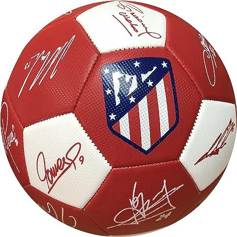 Balon Oficial Atletico de Madrid - Size 5 - Firmas: Amazon.es ...