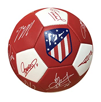 Balon Oficial Atletico de Madrid - Size 5 - Firmas: Amazon.es ...