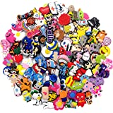 100Pcs Different Shoe Charms for Shoes and Bracelet with Hole