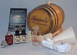 2 Liter Custom Engraved American White Oak Flavoring Gift Set (Spiced Rum)