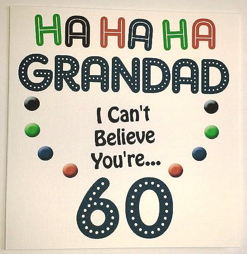 Happy Birthday Card Grandad Funny 60th Birthday Handmade Card – Funny 60th Birthday Cards