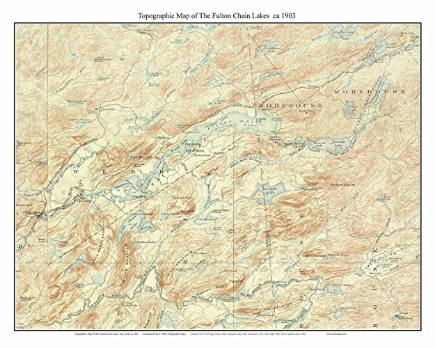 Amazon Com Fulton Chain Lakes 1903 Usgs Old Topographic Map