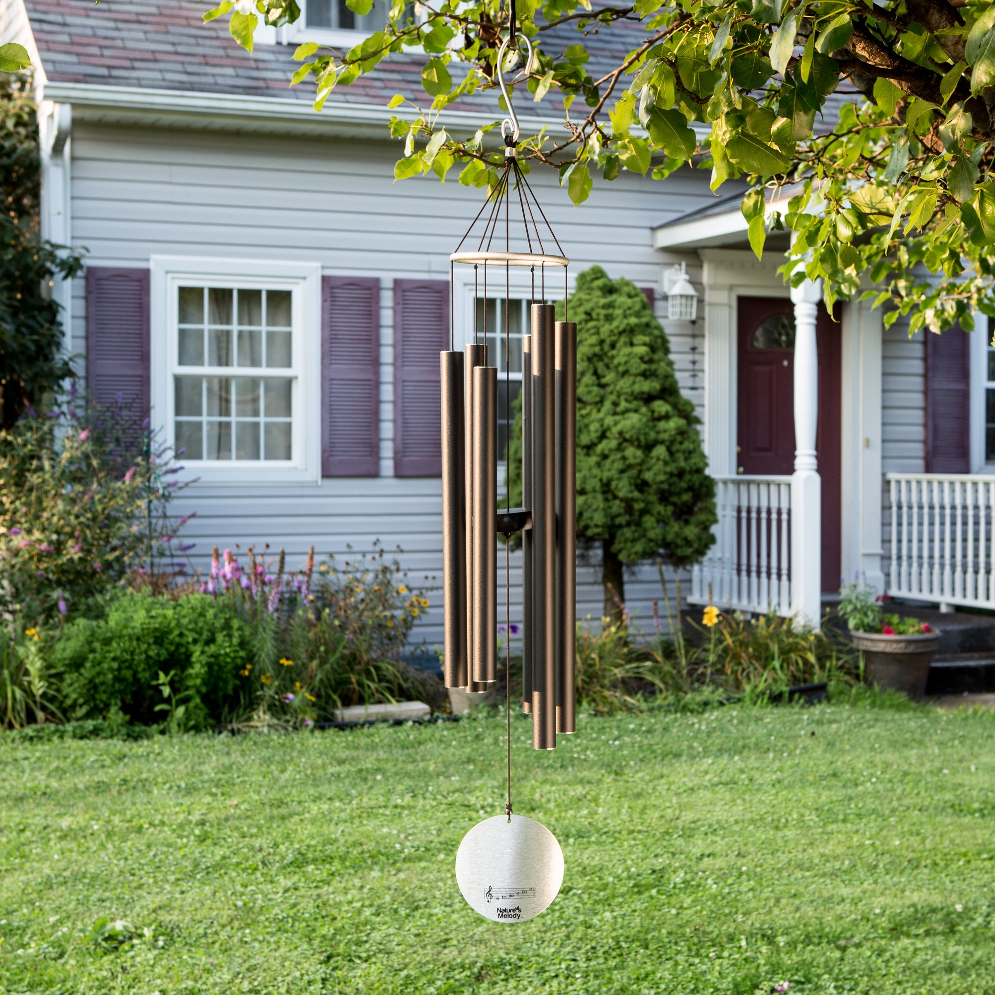 """Nature's Melody Wind Chimes for Outdoor, Tuned Metal Tubes, 36"""" by Nature's Melody (Image #6)"""