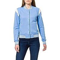 Urban Classics Ladies Inset College Sweat Jacket Chaqueta Varsity para Mujer